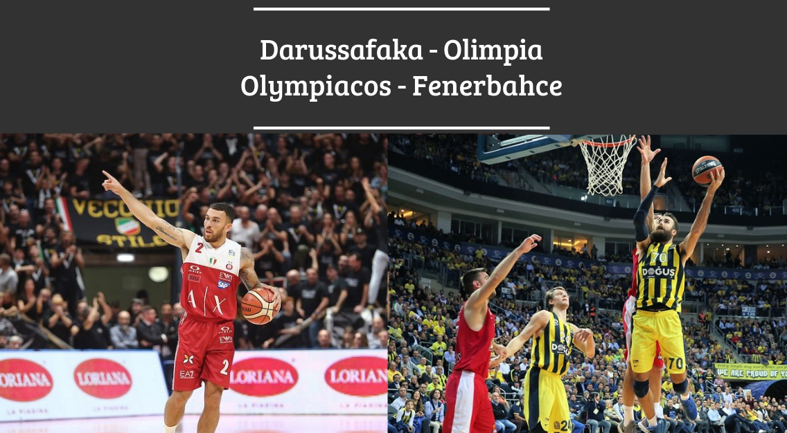 Eurolega: Preview Darussafaka – Olimpia e Olympiacos – Fenerbahce