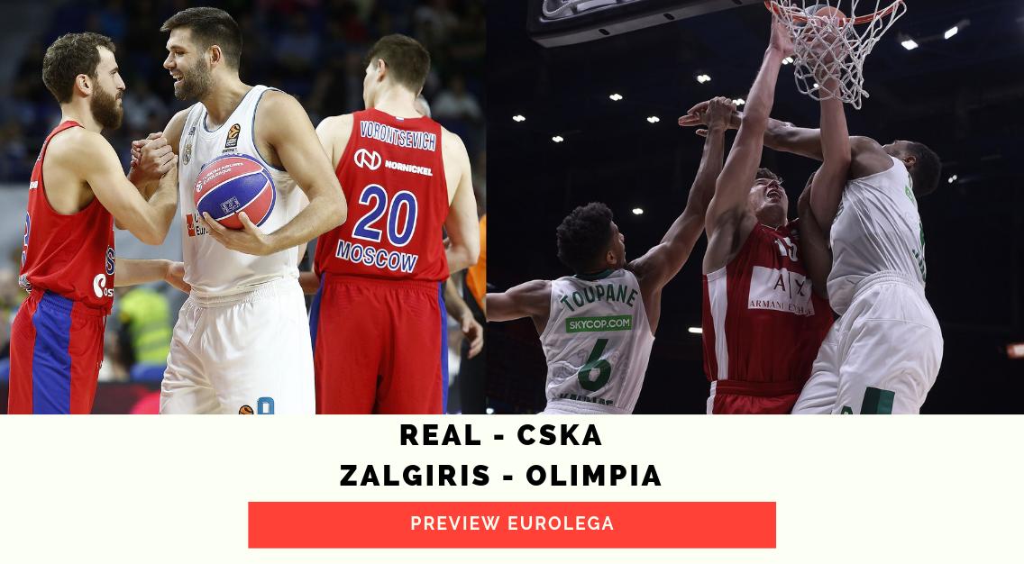 Preview Eurolega: Real Madrid-CSKA Mosca e Zalgiris Kaunas-Olimpia Milano