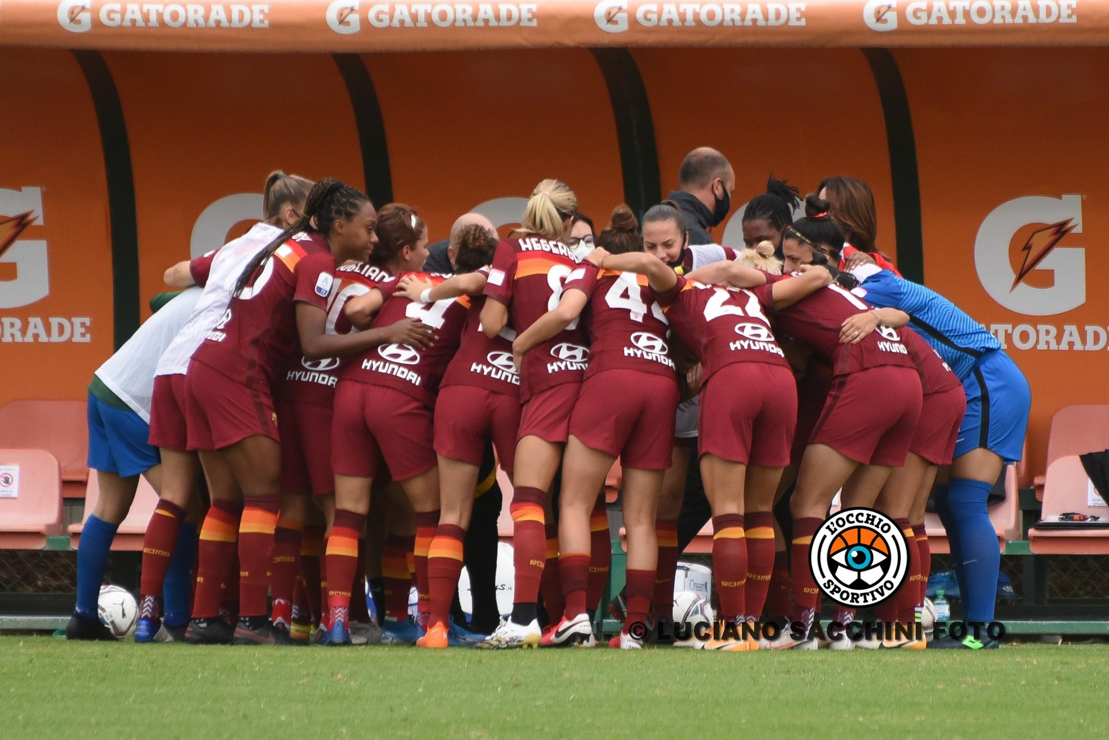 Serie A femminile: le giallorosse sprecano e vengono fermate sul pareggio