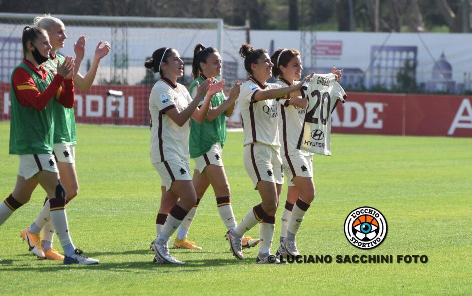 Roma 2-0 Empoli Ladies: Capelletti non riesce a fermare le giallorosse