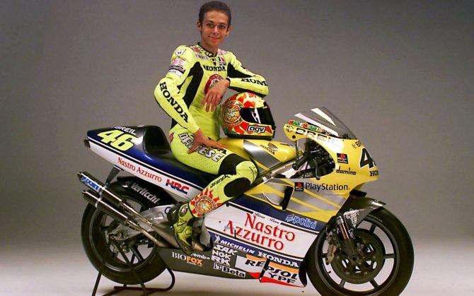 Valentino Rossi e il suo primo titolo nella classe regina