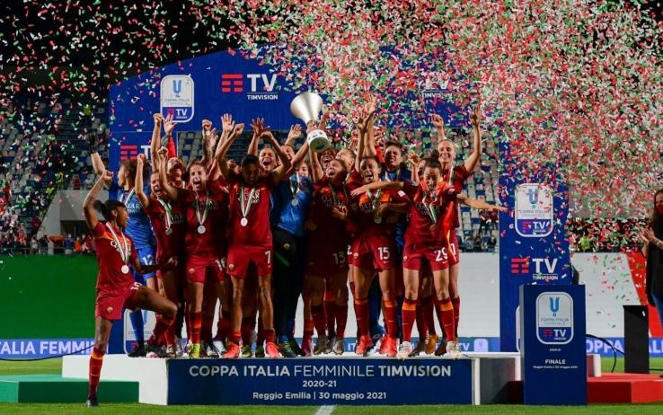 Coppa Italia Femminile: la Roma vince il primo trofeo della sua storia