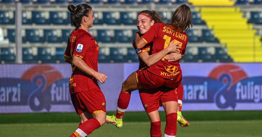 Buona la prima: la Roma Femminile travolge l'Empoli Ladies