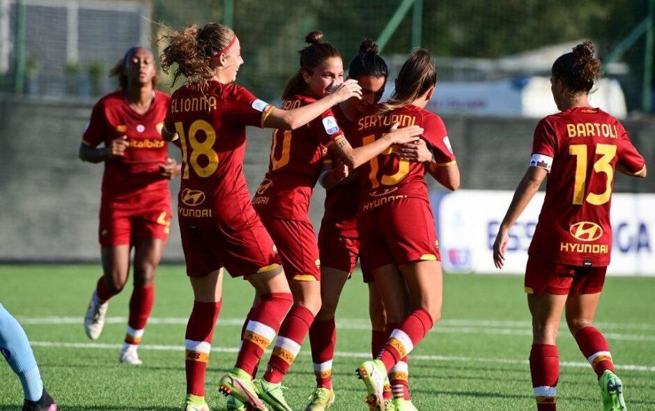 La Roma femminile bissa l'esordio: travolto il Napoli per 4-1